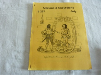 Alarums & Excursions #287 - APA - Jul-1999 - Roleplaying Magazine