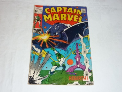 Captain Marvel #11 - Marvel 1969 - GD/VG - Given Great Power - Death of Una
