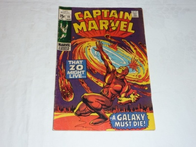 Captain Marvel #15 - Marvel 1969 - GD/VG