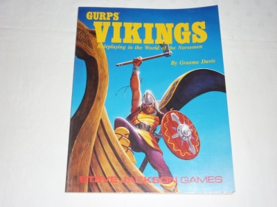 Gurps Vikings - Role-Playing Guide Book RPG - Steve Jackson Games