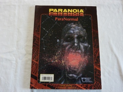 Paranoia ParaNormal #12028 - Role-Playing RPG - West End Games 1994