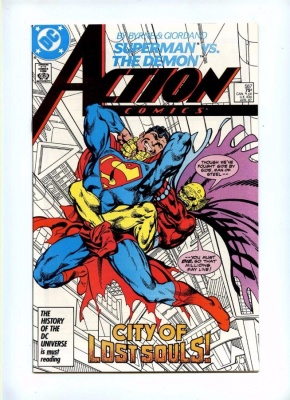 Action Comics 587 - DC 1987 - NM- - Superman Vs The Demon - John Byrne