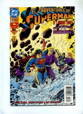 Adventures of Superman 508 - DC 1994 - VFN - Challengers of the Unknown App