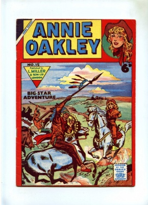 Annie Oakley #15 - L Miller 1950's - VG - Pence