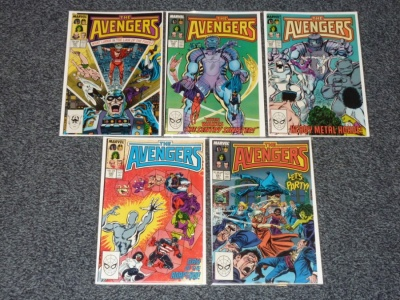 Avengers #287 #288 #289 #290 #291 - Marvel 1988 - 5 Comics