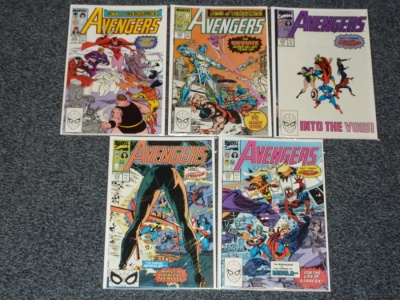 Avengers #312 #313 #314 #315 #316 - Marvel 1989 - 5 Comics