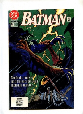 Batman #464 - DC 1991 - FN- - Last Solo Batman Story - Incls Impact Comics Preview