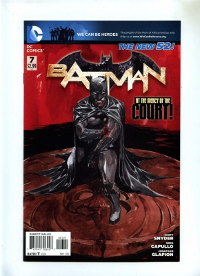 Batman 7 - DC 2012 - VFN - New 52 - Variant Cover by Dustin Nguyen - Court of Owls - Harper Row