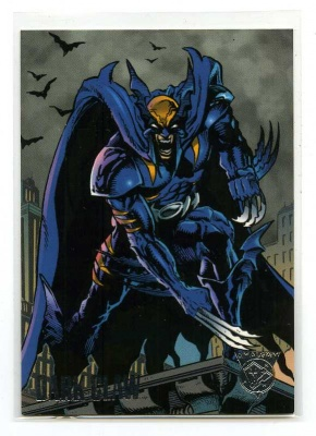 Batman Dark Claw- Promo Card - Fleer Skybox 1996 - DC Vs Marvel