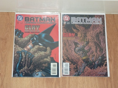 Batman Legends of the Dark Knight #89 to #90 DC 1996 VFN to VFN+ Full Clay Story