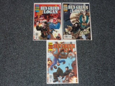 Before the Fantastic Four Ben Grimm and Logan #1 to #3 Marvel 2000 Complete Set