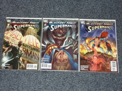 Blackest Night Superman #1 to #3 - DC 2009 - Complete Set