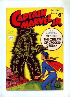 Captain Marvel Jr #21 - L Miller 1950's - VG- - Pence