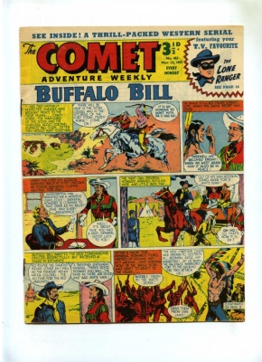 Comet Adventure Weekly #453 - Amalgamated Press 1957 - VG - Pence - Buffalo Bill