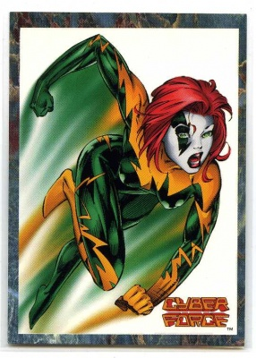 Cyber Force - Stryke Force - #3 - Cards Illustrated - Image 1994 - Veolcity