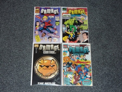 Damage Control #1 to #4 - Marvel Comics 1991 - Complete Set - Spider-Man App