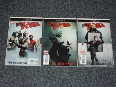 Dark X-Men The Beginning #1 to #3 - Marvel 2009 - Complete Set - Utopia Tie In