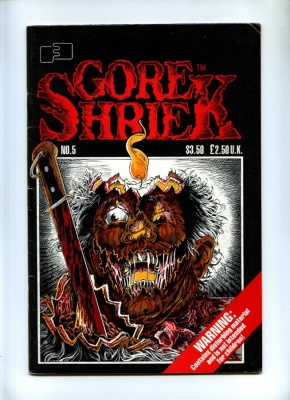 Gore Shriek #5 - FantaCo 1988 - Adults Only