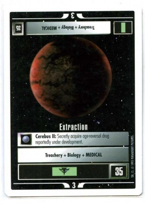 Star Trek CCG Premiere - Paramount 1995 - Extraction - Missions - Rare - WB[1]