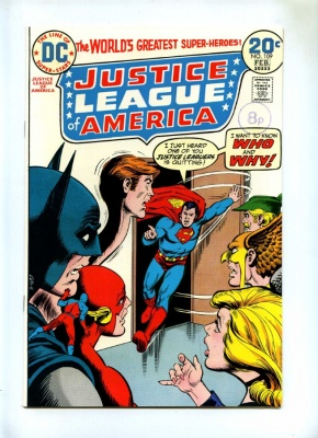 Justice League of America #109 - DC 1974 - Hawkman Resigns - NM-