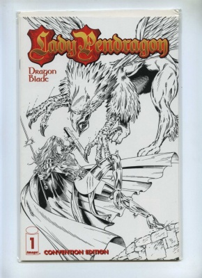 Lady Pendragon 1 - Image 1999 - NM - Dynamic Forces Convention Sketch Cover Ltd Series COA