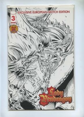 Lady Pendragon 3 - Image 1999 - NM- - Dynamic Forces European Sketch Cover Ltd Series COA