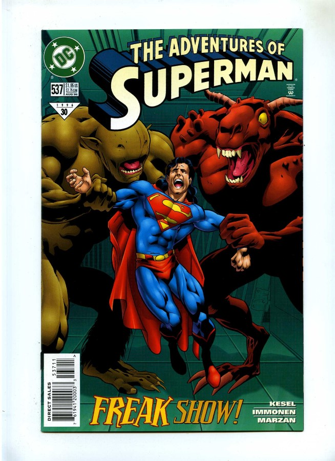 Superman Parasite >> Adventures Of Superman 537 Dc 1996 Nm Parasite App