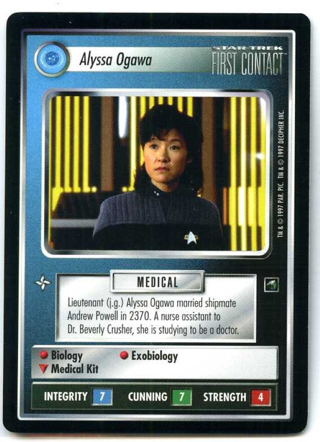 STAR TREK CCG FIRST CONTACT RARE CARD ADMIRAL HAYES