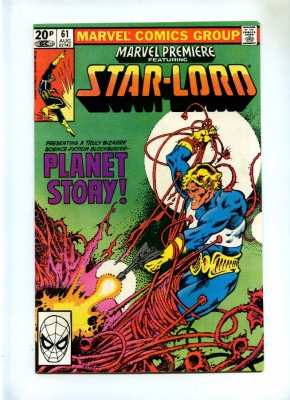 Marvel Premiere #61 - Marvel 1981 - Pence - Star-Lord - Final Issue