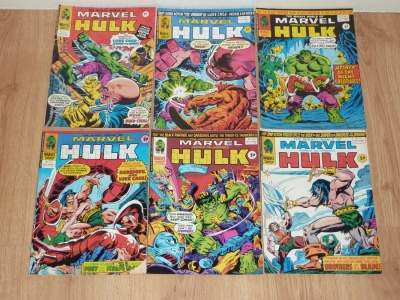 Mighty World of Marvel Incredible Hulk #212 to #230 - British 1976 - Almost Complete Run