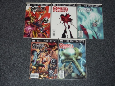Omega Flight #1 to #5 - Marvel 2007 - Complete Set - The Initiative