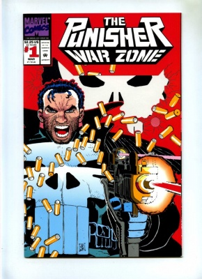 Punisher War Zone #1 - Marvel 1992 - Die-Cut Cover