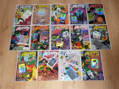 Robin II - The Jokers Wild #1 to #4 Incl All Variants and Holograms - DC 1991 - VFN- to VFN/NM - Complete Set - 14 Comics