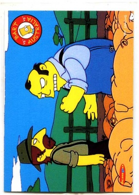 Simpsons Downunder Collector Card - Tempo 1996 - Farmers