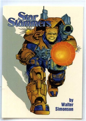 Star Slammers - P1 - Cards Illustrated - Mailbu Comics 1994 - Walter Simonson - Promo Card
