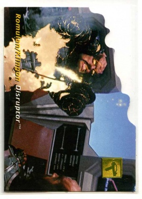 Star Trek 30 Years of Phase 1 Die-Cut Technology card - D3 - Romulan/Klingon Disruptor