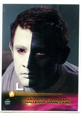 Star Trek Autograph Challenge Game Card - Card L - Fleer Skybox 1999