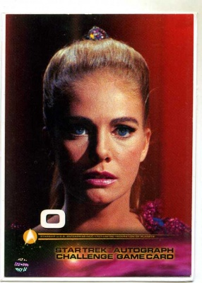 Star Trek Autograph Challenge Game Card - Card O - Fleer Skybox 1999