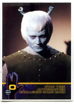 Star Trek Autographed Challenge Game Card - Card O - Fleer Skybox 1998