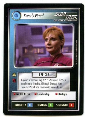 Star Trek CCG Alternate Universe - Paramount 1995 - Beverly Picard - Personnel Federation - Rare - BB