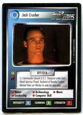 Star Trek CCG Alternate Universe - Paramount 1995 - Jack Crusher - Personnel Federation - Rare - BB