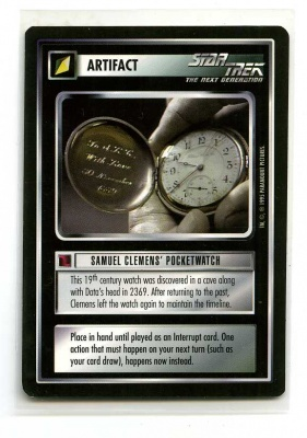 Star Trek CCG Alternate Universe - Paramount 1995 - Samuel Clemens' Pocketwatch - Artifact - Rare - BB