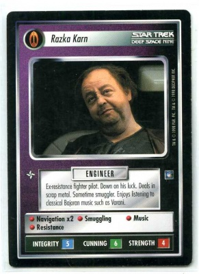 Star Trek CCG Deep Space 9 DS9 - Decipher 1998 - NM to NM-MT - Razka Karn - Personnel - Rare - BB