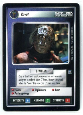 Star Trek CCG Deep Space 9 DS9 - Decipher 1998 - NM to NM-MT - Kovat - Personnel - Rare - BB