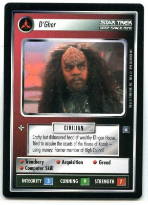 Star Trek CCG Deep Space Nine - Decipher 1998 - D'Ghor - Personnel Klingon - Rare - BB