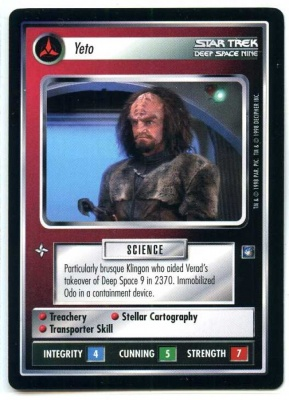 Star Trek CCG Deep Space Nine - Decipher 1998 - Yeto - Personnel Klingon - Rare - BB