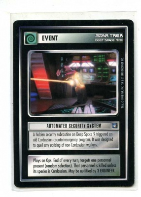 Star Trek CCG Deep Space Nine - Decipher 1998 - Automated Security System - Events - Rare - BB
