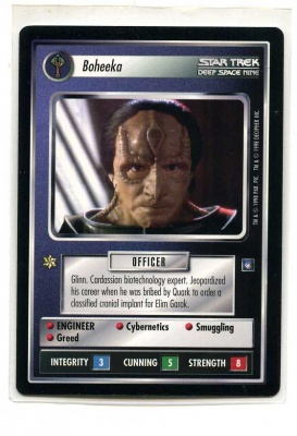Star Trek CCG Deep Space Nine - Decipher 1998 - Boheeka - Personnel: Cardassian - Rare - BB