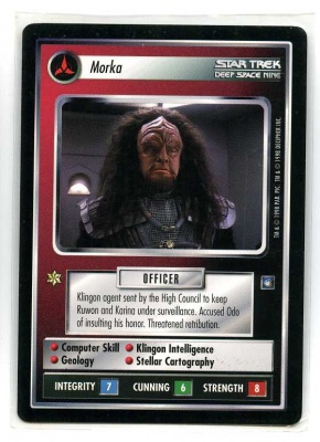 Star Trek CCG Deep Space Nine - Decipher 1998 - Morka - Personnel: Klingon - Rare - BB