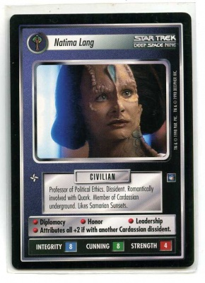 Star Trek CCG Deep Space Nine - Decipher 1998 - Natima Lang - Personnel: Cardassian - Rare - BB